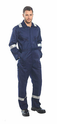 Portwest F813 Iona Polycotton Safety Coverall with Reflective Tape & 10 Pockets