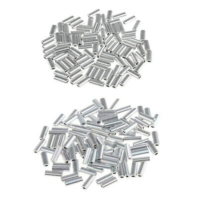200Pcs Single Barrel Crimping Sleeves Size 1.2/1.5mm Aluminum Tube Connector
