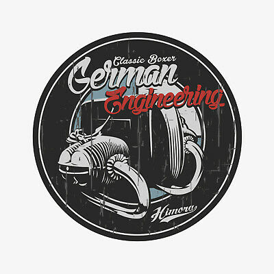 BMW Boxer Sticker - German Engineering // Aufkleber Motorrad Cafe Racer