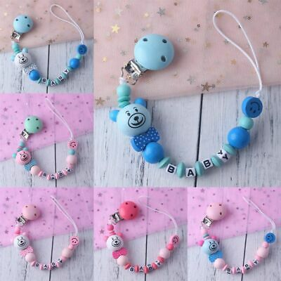 Baby Child Pacifier Chain Soothing Boys Girls Cute Bear Colorful Design Kids Toy