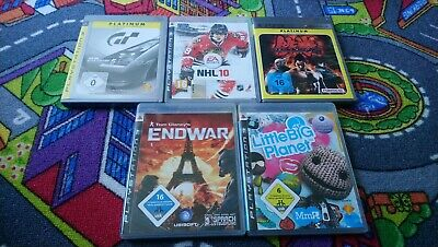 Playstation 3  Ps3 Gran Turismo 5, NHL 10,Tekken5,TomClancy's, little Bug Planet