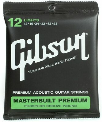 Gibson Masterbuilt Premium, Phosphor Bronze Acoustic Guitar | Lights 12-53