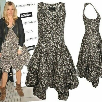 Fabulous All Saints Tokyo Ditzy Ezra Boho Floral Hitch Puffball Dress Uk 10-12