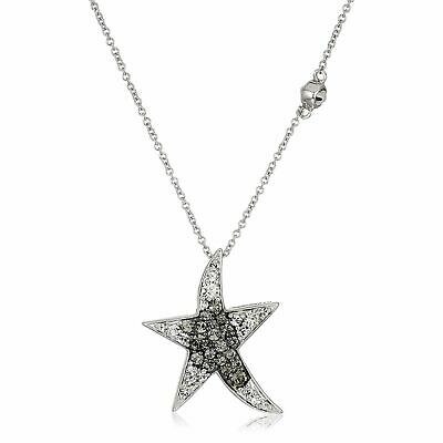 Crystaluxe Starfish Pendant with Swarovski Crystals in Sterling Silver, 18""