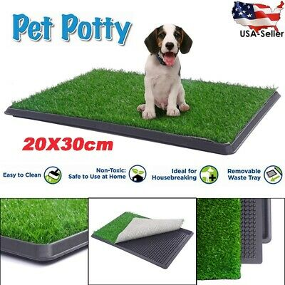 Pet Potty Trainer Grass Mat Dog Puppy Training Pee Patch Pad Outdoor Toilet Tray