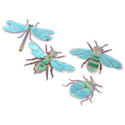 Embroidery 4 Different Insect Sew Iron On Patch Badge Fabric Applique Craft DIY
