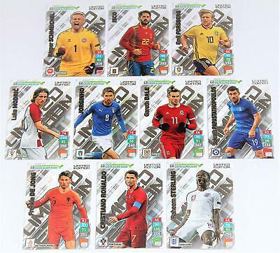 Panini Adrenalyn XL Limited edition cards Road to Euro 2020 Cards 41 Cards