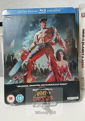 Evil Dead 3 Army of Darkness - Limited exclusive Blu ray Steelbook Edition OOP