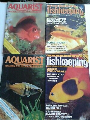 AQUARIST & PONDKEEPER and PRACTICAL FISHKEEPING 4 magazines 1980's