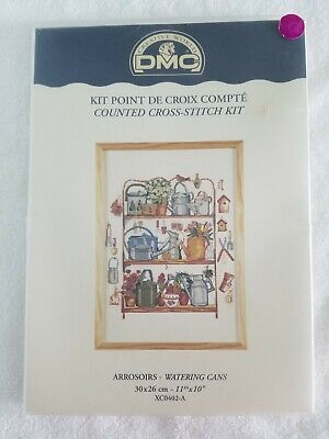 "2 DMC ""Watering Cans and Cherries Cross Stitch Kits"