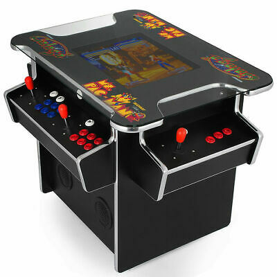 3 Sided Cocktail Arcade Machine With 1162 Classic Games 19 Inch Screen