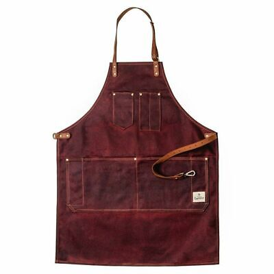 Dapper Dan Barber Apron - Oxblood
