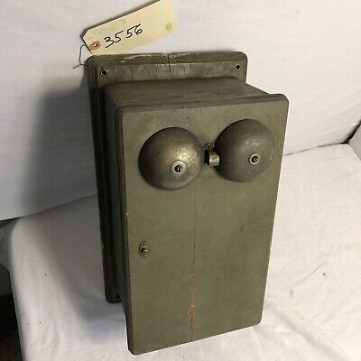 Antique Telephone RailRoad Western Electric 160a; Glass Dome Good(3556)