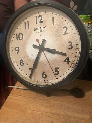 Original Vintage Smiths Sectric Wall Clock