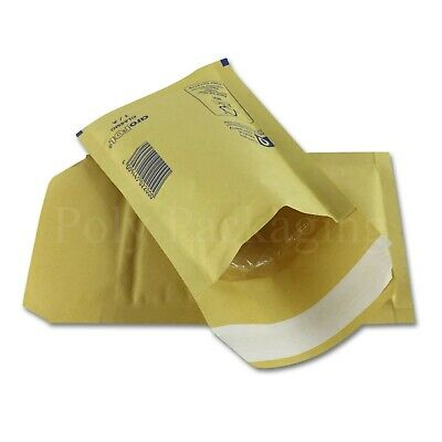 100 x GOLD BUBBLE ENVELOPES 100x165mm(A/000)(EP1)Padded Bags SMALL Postage
