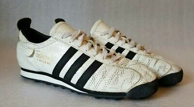 info for ac2d0 a36a7 Adidas Originals Chile 62 Trainers UK 7 White Black Cracked Leather 2004