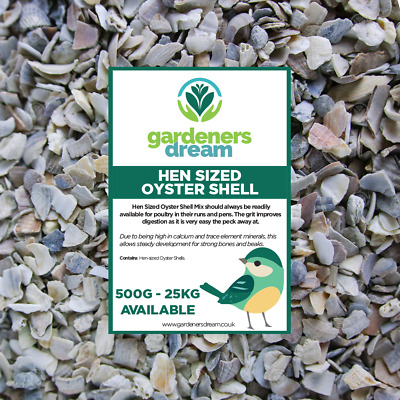 GardenersDream Hen Sized Oyster Shell - Calcium Filled Grit Food For Poultry