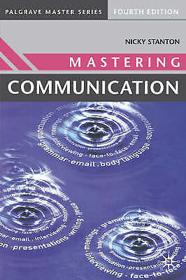 """AS NEW"" Mastering Communication (Palgrave Master Series), Nicky Stanton, Book"
