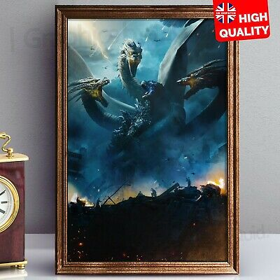 Godzilla King of the Monsters Poster 2019 Film Print Montser Movie | A4 A3 A2 A1