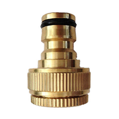 Garden Hose Tap Connector 3/4'' and 1/2'' Outdoor Threaded Solid Brass