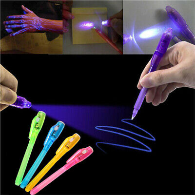 Magic Combo Purple Drawing UV Light 2 In 1 Invisible Ink Pen Painting Marker