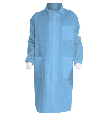 Kimberly Clark 10049 Universal Precautions Lab Coat, Blue, XX-Large, 10/case