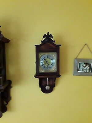 Vintage Time Only Wall Clock Working Order