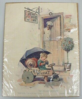 """Vintage 1922 Cream Of Wheat Ad """" The Filling Station """""""