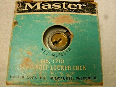Vintage Master No. 1710 Dead Bolt Locker Lock W/Orig Box