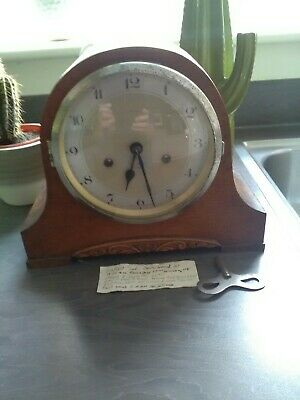 SMITHS ENFIELD  OAK  CASED MANTEL CLOCK chimes removed spares or repair