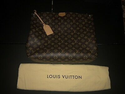 83e3e23d5f28 Authentic Louis Vuitton Hand Bag M43704 Graceful MM Browns Monogram 306544