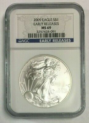 2009 American Silver Eagle Early Releases MS 69 NGC SKU#1291