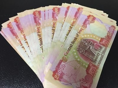 Sale! 100,000 Iraqi Dinar! (4) 25,000 Notes Circulated Authentic Guarantee Iqd!!