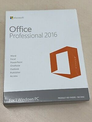 Genuine Microsoft Office 2016 Professional Word Excel Powerpoint Access
