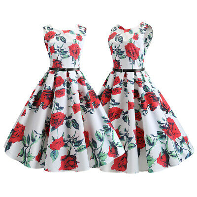 Vintage Women's Cocktail Party Formal Sleeveless 50s 60s Evening Retro Dresses