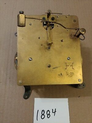 Antique German Clock Movement Marked  Zh