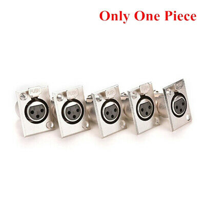 Female Chassis Socket 3-Pin XLR Jack Panel Mount Connector Nickel Housing YBF