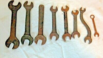 Lot Of 8 Vintage / Antique Wrenches USA or British Made Drop Forged Shelley etc