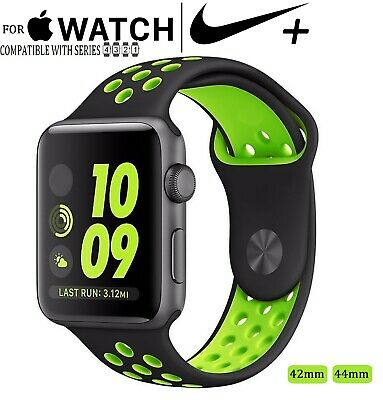 For Apple Watch Nike+ 42 44mm Sport Silicone Replacement Fitness Band Series 1-4