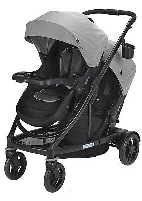 Graco Baby UNO2DUO Twin Tandem Double Stroller with Second Seat Oakley 2018 NEW