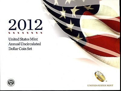 2012 United States Mint Annual Uncirculated Dollar Coin Set