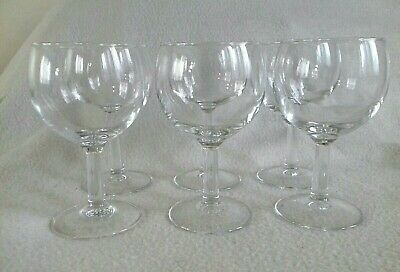 6x Vintage ARCOROC French Clear Wine Glass Goblet Set France Stem Drinking Table