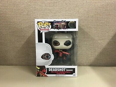 Funko Pop! Heroes: Suicide Squad - Deadshot (Masked) Will Smith #106 New In Box