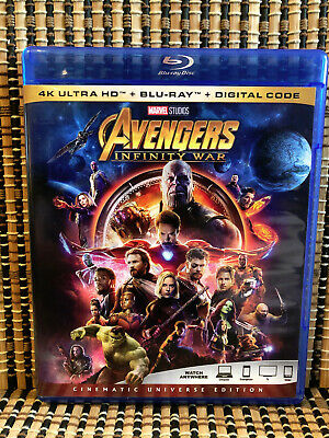Avengers 3: Infinity War (1-Disc Blu-ray, 2018)Marvel/Iron Man/Thor/Hulk/Thanos