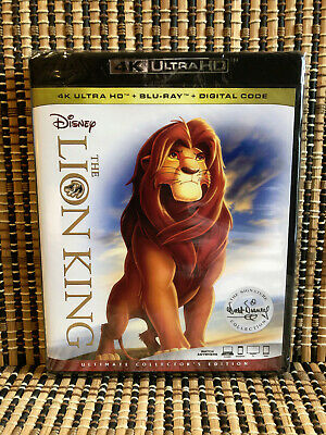 The Lion King 4K: Signature Ed (2-Disc Blu-ray, 2018)Disney Classic.