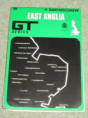 Vintage 1979 Bartholomews GT Series Map; East Anglia - sheet 5 on paper