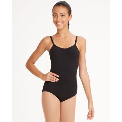 a34e03648d58 NEW Capezio TB1420 Black Adjustable Strap Cami Dance Leotard Womens sizes