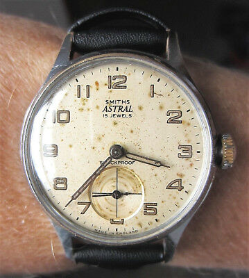 1950s Vintage Gents SS Smiths Astral 15J Mechanical c.12.15 Watch Serviced