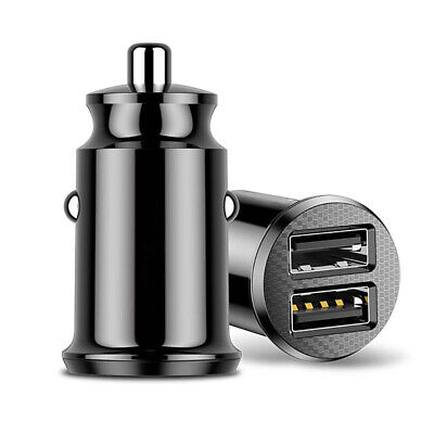Minimal Car Charger Dual USB Smart Fast Charger Adapter 3.1A Mobile Phone GPS