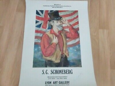 S.C. Schoneberg POSTER Bicentennial Exposition Vintage 1976 RARE SIGNED